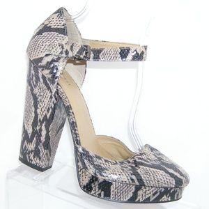 Nine West 'Round Town' snake print man heels 11M